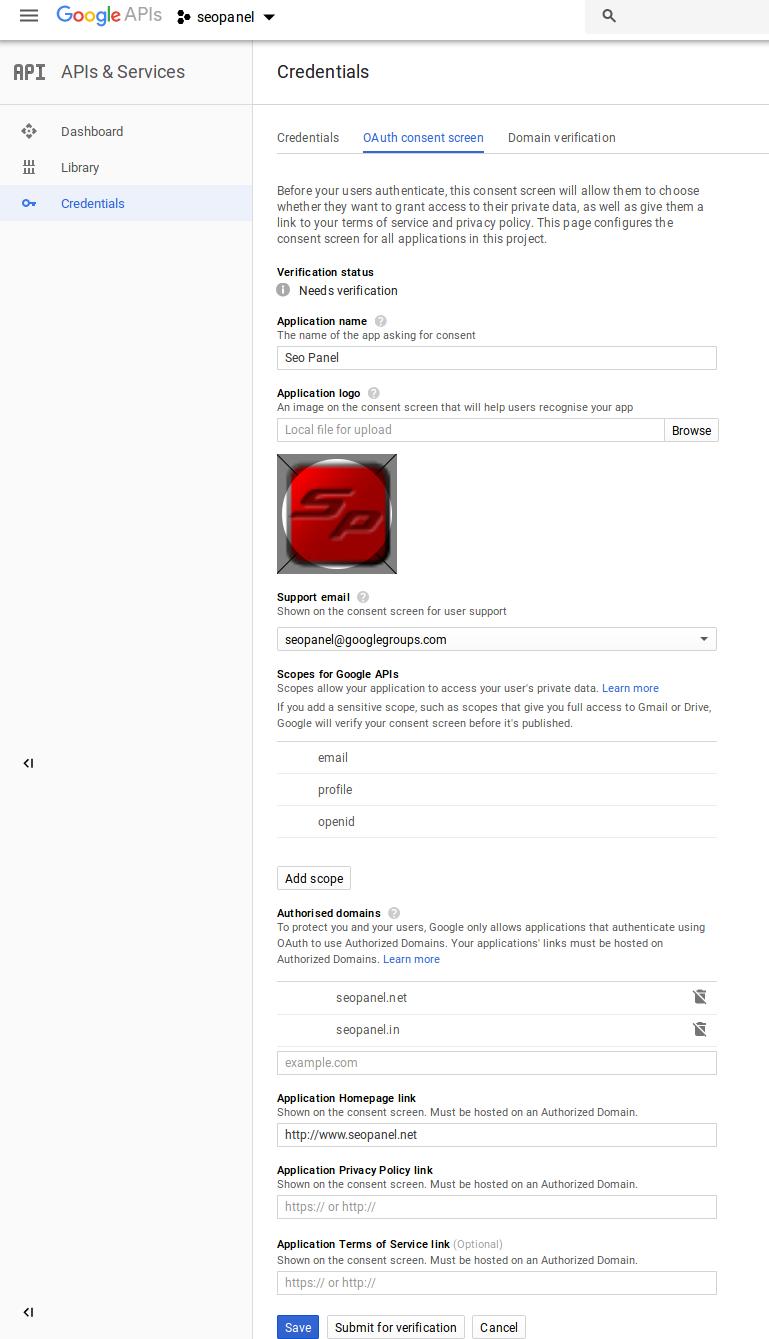 Seo panel settings manager guide to setup overall settings